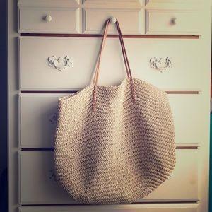 Tan beach bag from Target